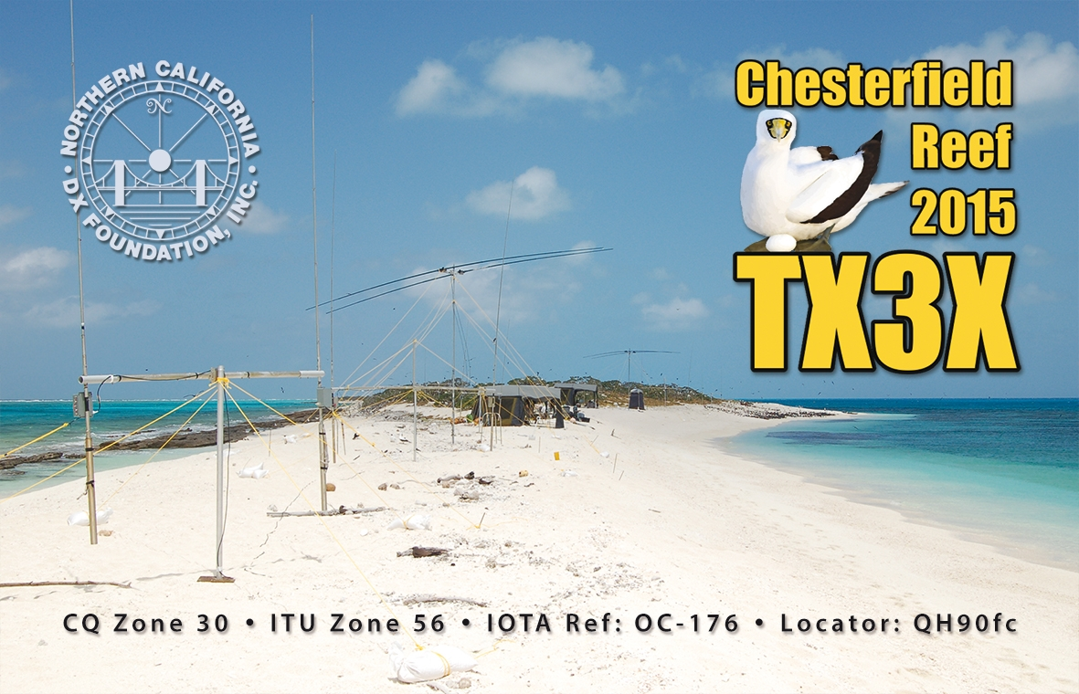 QSL TX3X Single front